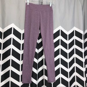 LuLaRoe Heather Purple One Size Legging Stretch G
